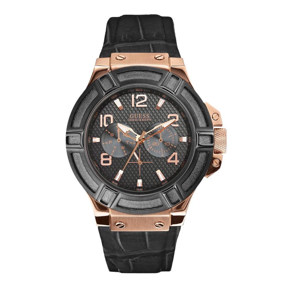 83628f9645ff Correa de reloj Guess W0040G5 Piel de cocodrilo 22mm