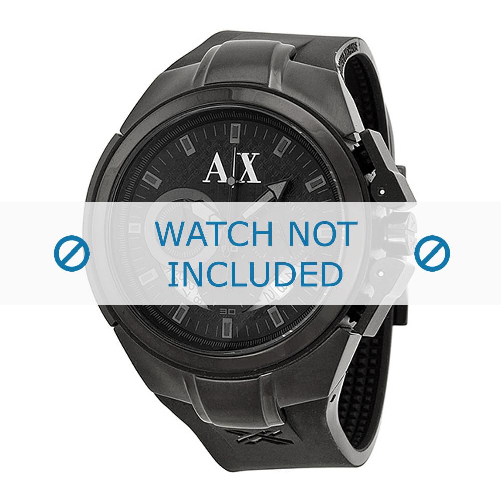 nuevo estilo af71a 8bd74 Armani AX-1050 correa para reloj Silicona Negro - Compre ahora!