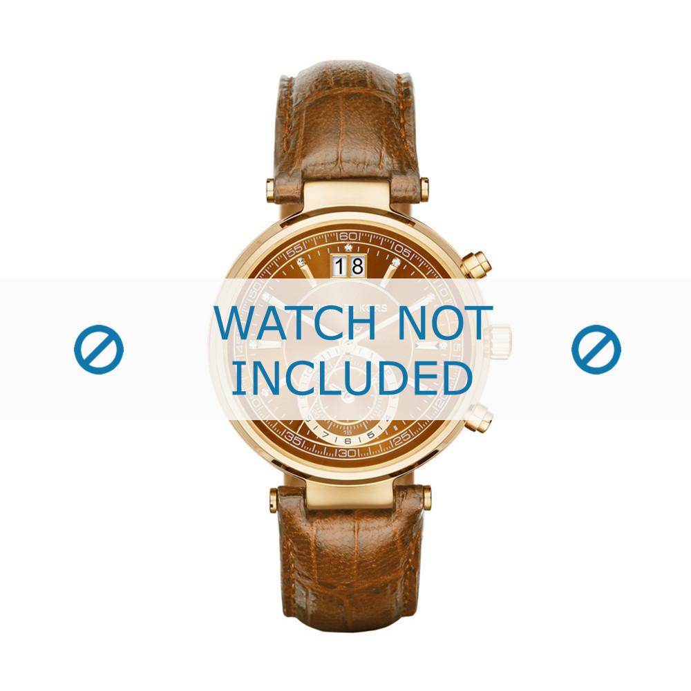 Correa de reloj Michael Kors MK2424 Piel de cocodrilo 12mm