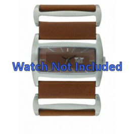 Correa de reloj Davis 0752 de Cuero Marrón