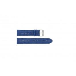 Correa de reloj Universal 285R.05 Piel de cocodrilo Azul 22mm