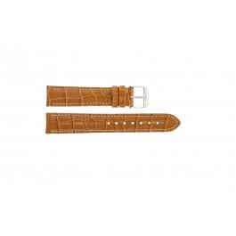 Correa de reloj Universal 285.27 Piel de cocodrilo Marrón 20mm