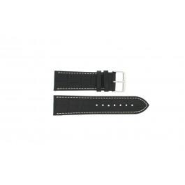 Correa de reloj Universal 308R.01 Cuero Negro 22mm