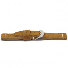 Correa de reloj Universal H327 Cuero Marrón 22mm