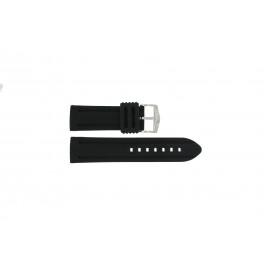Correa de reloj Universal 5809.01 Silicona Negro 26mm