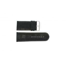 Correa de reloj Universal 61324.24Z Cuero Negro 24mm