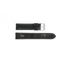 Correa de reloj Universal 61324.10.20 Cuero Negro 20mm