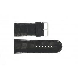 Correa de reloj Universal 61324.10.34 Cuero Negro 34mm
