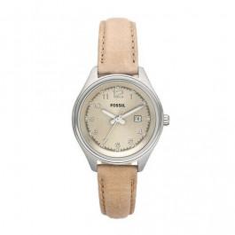 Correa de reloj Fossil AM4377 Cuero Beige 14mm