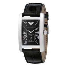 Correa de reloj Armani AR0143 Cuero Negro 22mm