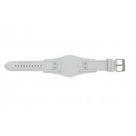 Correa de reloj Fossil CH2592 Cuero Blanco 22mm