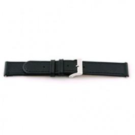 Correa de reloj Universal F100 Cuero Negro 18mm
