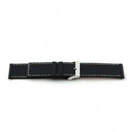 Correa de reloj Universal M110 Cuero Negro 32mm