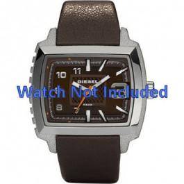 Diesel correa de reloj DZ1364 Cuero Marrón oscuro 25mm