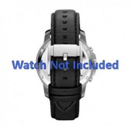 Correa de reloj Fossil FS4647 Cuero Negro 22mm