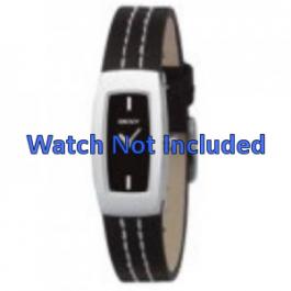 Correa de reloj DKNY NY3296 Cuero Negro 15mm