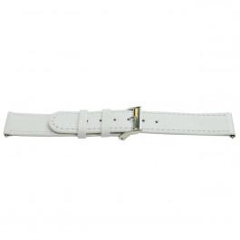 Correa de reloj Universal H500 Cuero Blanco 22mm
