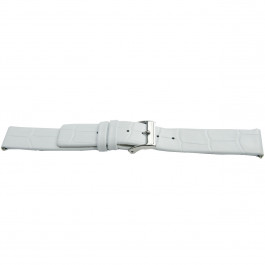 Correa de reloj Universal H520 Cuero Blanco 22mm