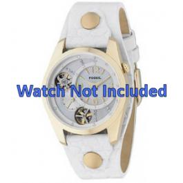 Correa de reloj Fossil ME1039 Cuero Blanco 18mm