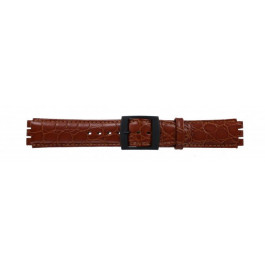 Correa de reloj Swatch (alt.) SC10.03 Cuero Cognac 17mm