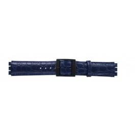 Correa de reloj Swatch SC10.05 Cuero Azul 17mm