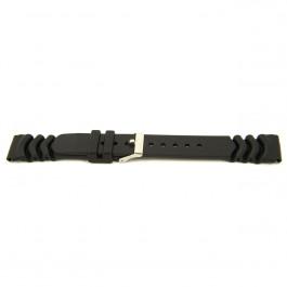 Correa de reloj Universal XH11 Caucho Negro 22mm