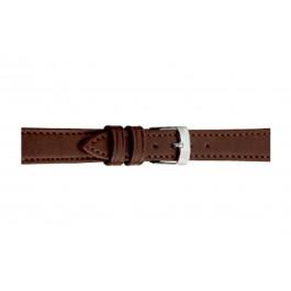 Morellato correa de reloj Point Grana ECO D0112419034CR08 / PMD034POINTE08 Cuero suave Marrón oscuro 8mm + costura predeterminada