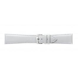 Morellato correa de reloj Extra Napa X3395875017CR30 / PMX017EXTRAN30 Cuero Blanco 30mm + costura predeterminada