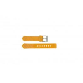 Adidas correa de reloj ADH2105 Goma Naranja 18mm