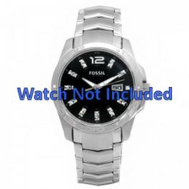 Fossil correa de reloj AM4089 Metal Plateado 22mm