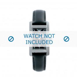 Correa de reloj Armani AR0122 Cuero Negro 14mm