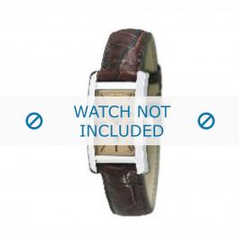 Armani correa de reloj AR-0125 Piel de cocodrilo Marrón 18mm
