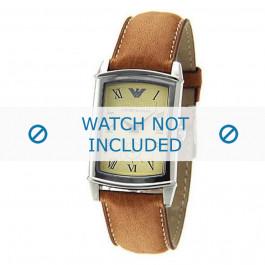 Armani correa de reloj AR-0235 Piel Marrón 21mm