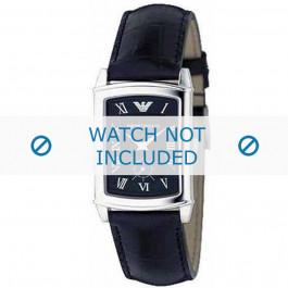 Armani correa de reloj AR-0239 Piel de cocodrilo Negro 20mm