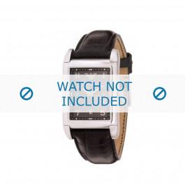 Armani correa de reloj AR-0272 Piel de cocodrilo Negro 22mm