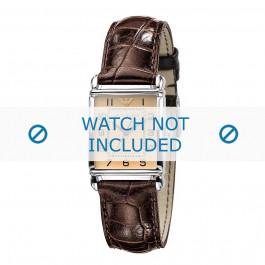 Correa de reloj Armani AR0404 Cuero Marrón 18mm