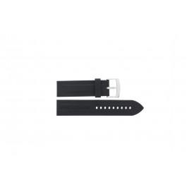 Correa de reloj Armani AR0527 / AR5826 / Vanille Silicona Negro 23mm