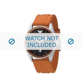Armani correa de reloj AR-0561 Goma Naranja 23mm