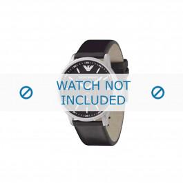 Armani correa de reloj AR-0611 Piel Negro 20mm