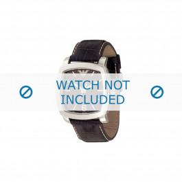 Armani correa de reloj AR-5803 Piel Marrón oscuro 24mm