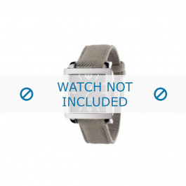 Armani correa de reloj AR5805 Textil Gris 24mm