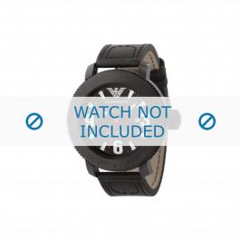 Armani correa de reloj AR-5832 Piel Negro