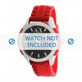 Armani correa de reloj AX1227 Caucho / plástico Rojo 22mm