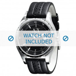 Correa de reloj Armani AX1055 Cuero Negro 22mm