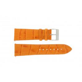 Correa de reloj Davis B0201 / 18 Cuero Naranja 18mm