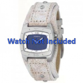 Correa de reloj Fossil BG2043 Cuero Beige 20mm
