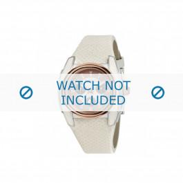 Breil correa de reloj BW0383 / F260053231 / BW0384 Cuero Blanco 25mm