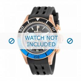 Correa de reloj Breil BW0406 Caucho Negro 22mm