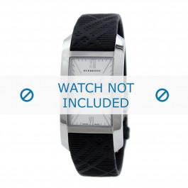 Correa de reloj Burberry BU1083 Cuero Negro 14mm