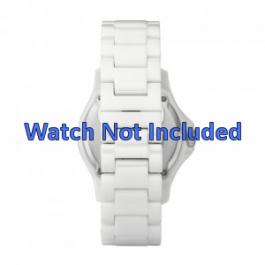 Fossil correa de reloj CE1010 Cerámica Blanco 20mm